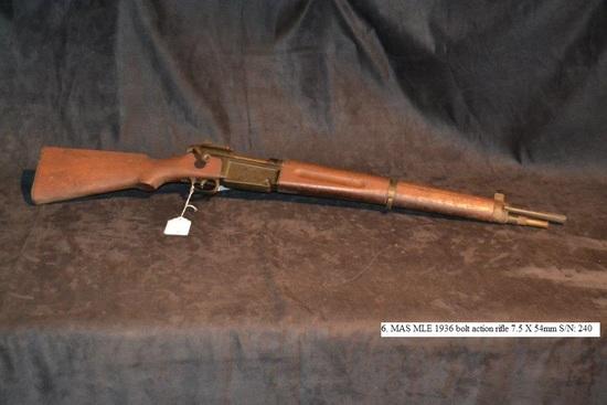 MAS MEL 1936 bolt action rifle 7.5 X 54mm cal. S/N: 240