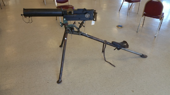 Deactivated Maxim Model 1895 Machine Gun