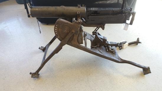 Deactivated MG 08 Machine Gun