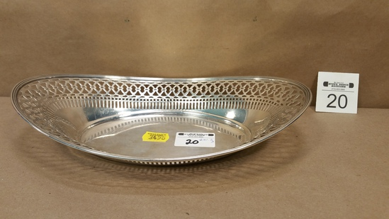 Sterling Silver Reticulated Oval Bowl