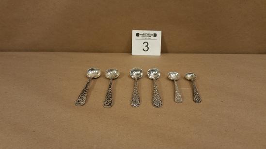 3 Pair of Sterling Silver Salt Spoons