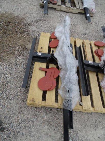 Unused Dueling Tree Shooting Target, AR500 3/8in Steel