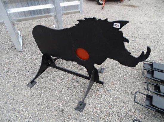 Unused Wild Boar Shooting Target w/ Heart Flapper, AR500 3/8in Steel