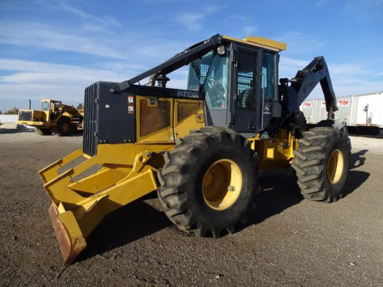 2004 John Deere 548G III Skidder, Enclosed Cab w/ Heat & A/C, Young Grapple, Winch, 86in Blade,