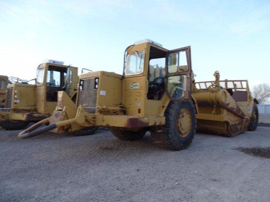 Caterpillar 637D Motor Scraper, Twin Engine, Push/ Pull, 33.25-35 Tires, Hour Meter Reads: 23,672,