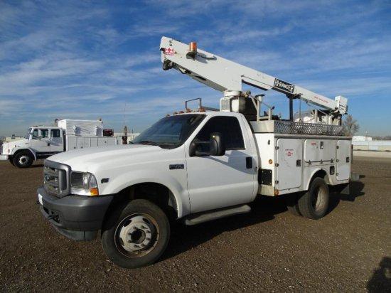 2004 FORD F450 XL Super Duty Bucket Truck, 6.8L, Automatic, Terex Hi Ranger T-292 Boom, 29' Platform