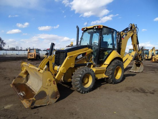 2011 Caterpillar 450E 4WD Loader/Backhoe, Auxiliary Hydraulics, 4-in-1 Bucket, EROPS, Heat & A/C,