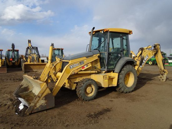 2007 John Deere 310G 4WD Loader/Backhoe, EROPS, No Hoe Bucket, Hour Meter Reads: 4641, S/N: