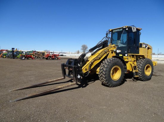 2008 Caterpillar 924H Wheel Loader, Cab w/ Heat & A/C, 8' Forks, Quick Coupler, 3rd Valve, 20.5-R25
