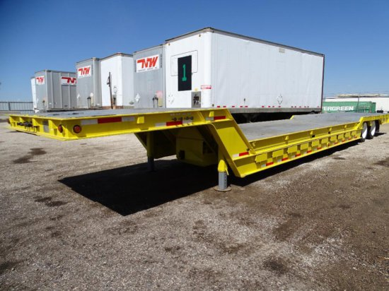 1990 TRAIL-EZE 5548-1229WS T/A Hydraulic Tail Trailer, 48' x 102in Removable 21' Well To Convert To