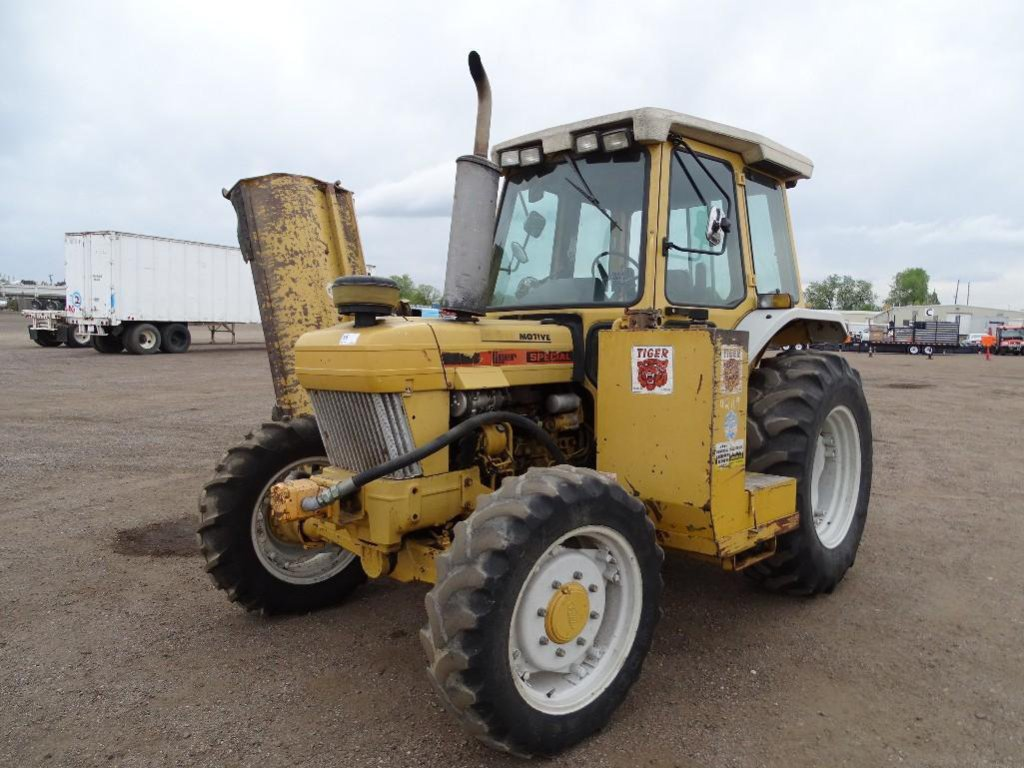 Tiger 4WD Tractor, Enclosed Cab, Diesel, PTO, 3-Pt, 8' Rear Mower, Side Flail Mower, Hour Meter