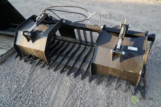 New Brute 80in Tine/Manure/Brush Grapple To Fit Skid Steer Loader