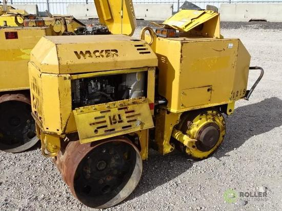 Wacker RT Walk-Behind Trench Compactor, Lombardini Diesel, 32in Double Drums, w/ Remote, Extra Drum,