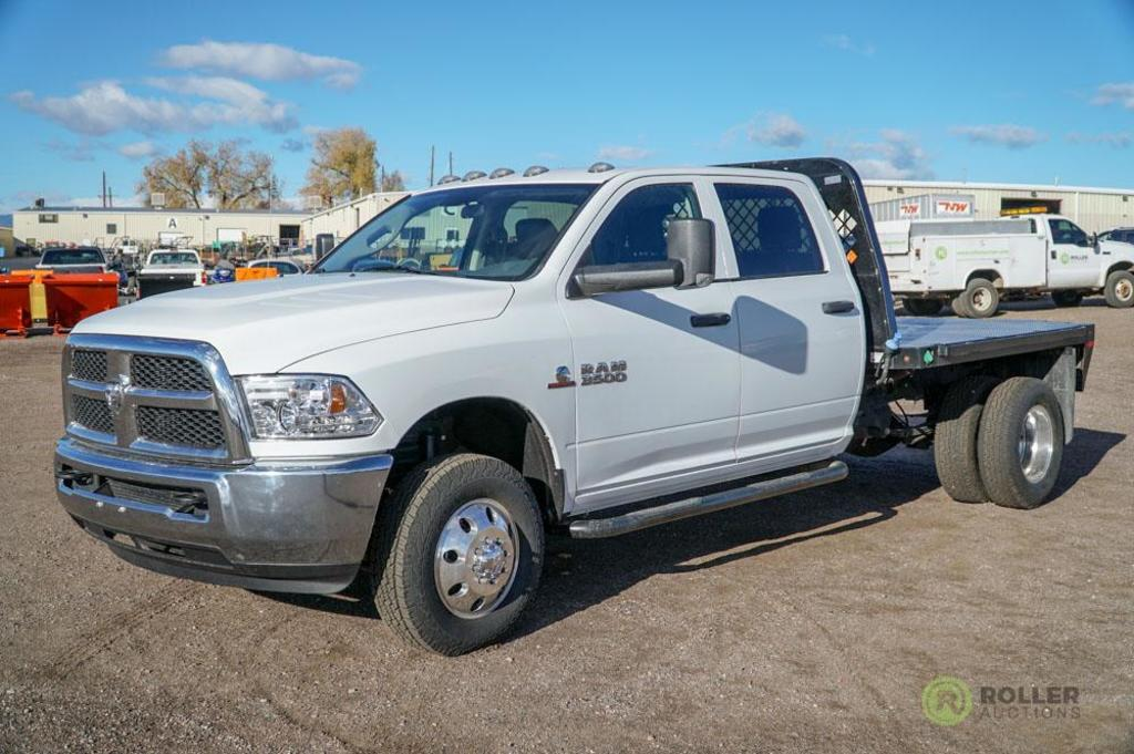 2015 Dodge Ram 3500 Heavy Duty 4x4 Crew Cab Flatbed Truck Cummins Turbo Diesel Automatic 8 Commercial Trucks Hauling Transport Trucks Flatbed Trucks Online Auctions Proxibid