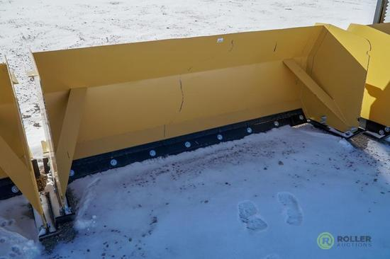New 93in Heavy Duty Snow Pusher To Fit Skid Steer Loader