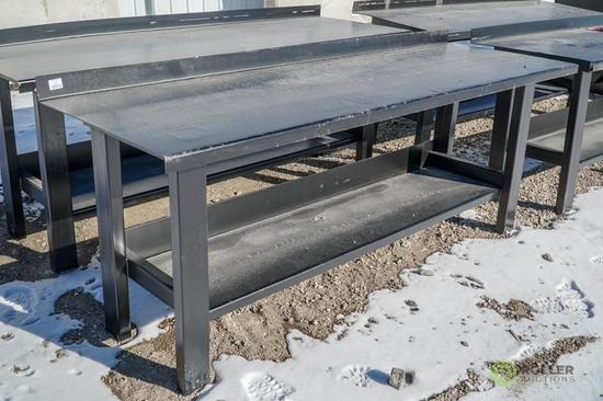 New Kit 29.5in x 90in Heavy Duty Work Bench w/ Shelf