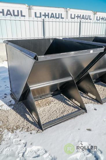 New Kit 1.75 Cubic Yard Trash Hopper To Fit Skid Steer Loader