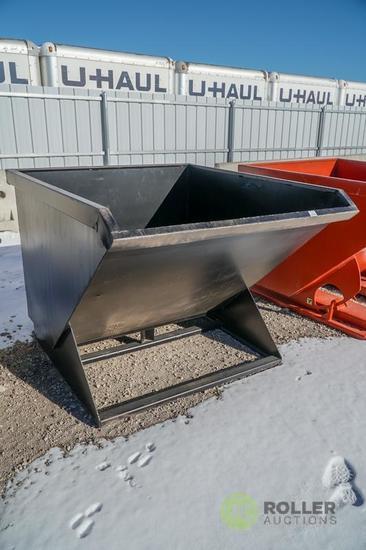 New Kit 2-Cubic Yard Trash Hopper To Fit Skid Steer Loader