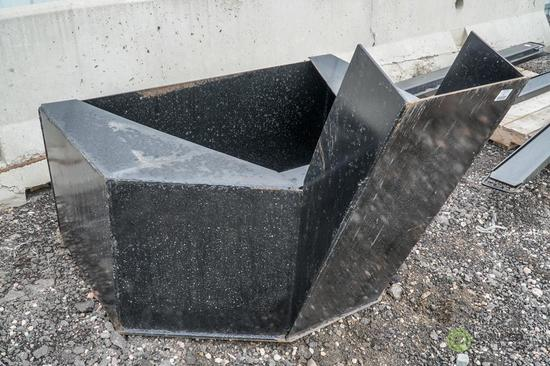 New Kit 3/4 Cubic Yard Concrete Placement Bucket To Fit Skid Steer Loader