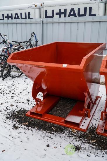 New Kit 1.5 Cubic Yard Trash Hopper, Self Dumping, 4000 LB Capacity