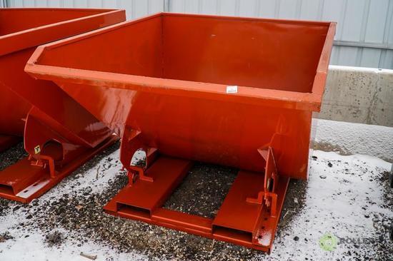 New Kit 2-Cubic Yard Trash Hopper, Self Dumping, 4000 LB Capacity