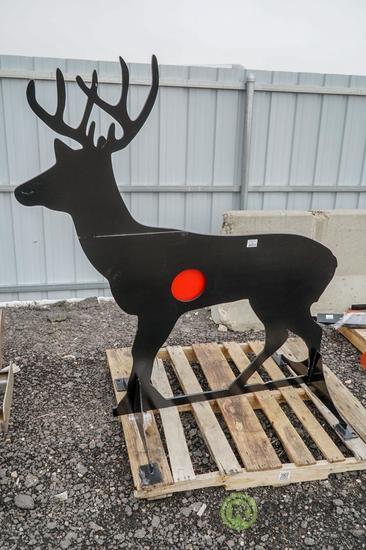 New Kit 3/8 AR500 Steel Deer Shooting Target w/ Heart Flapper
