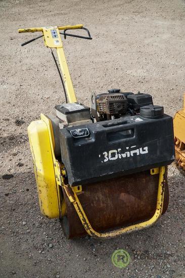 Bomag BW55E Walk-Behind Asphalt Roller, Honda Gas Engine, 22in Drum