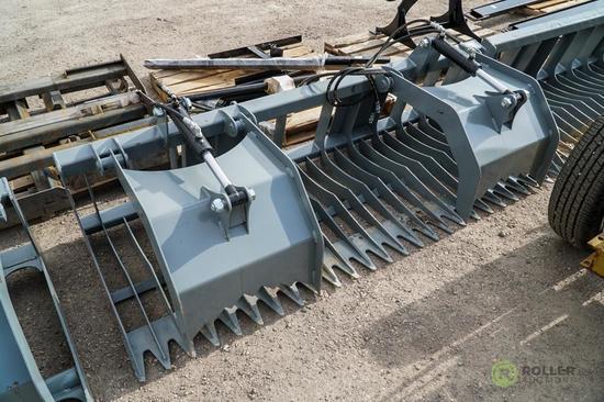 New Brute 84in Rock & Brush Grapple w/ 4in Tine Spacing To Fit Skid Steer Loader