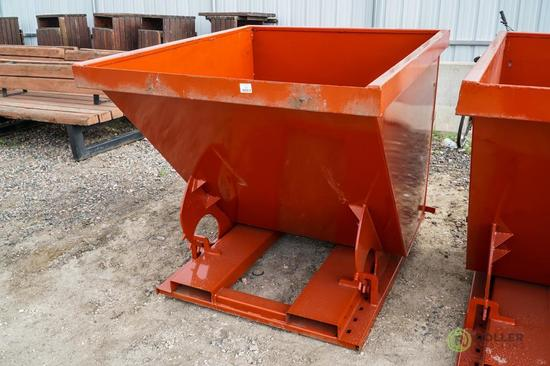 New Kit 1.75 Cubic Yard Trash Hopper, Self Dumping, 6000 LB Capacity