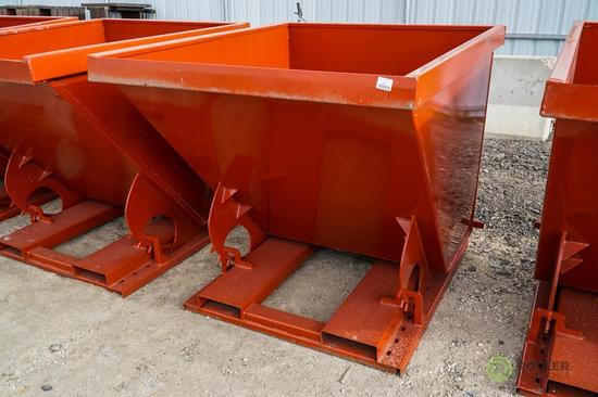 New Kit 1.75 Cubic Yard Trash Hopper, Self Dumping, 6000 LB Capacity