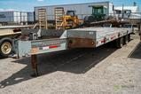 2008 INTERSTATE 20DT T/A Equipment Trailer, Duals, 19' x 102in Deck, 5' Dovetail, Fold-Down Ramps,