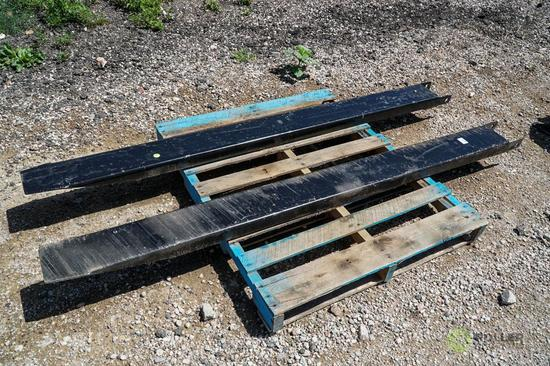 New Brute 7' Pallet Fork Extensions, 6in Inside Dimensions