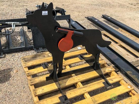 New Kit Coyote Shooting Target w/ Heart Flapper, 1/2 AR500 Steel