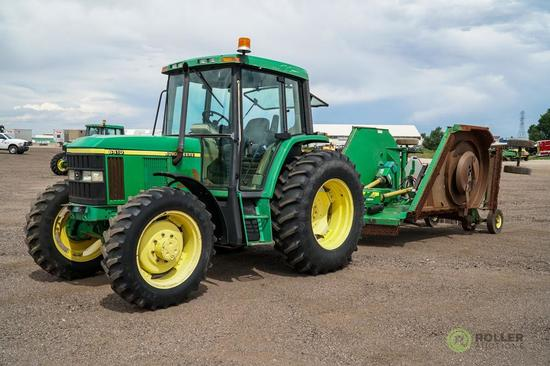 1999 John Deere 6410 4WD Agricultural Tractor, Enclosed Cab, w/ Heat & A/C, PTO, 3-Pt, Rear