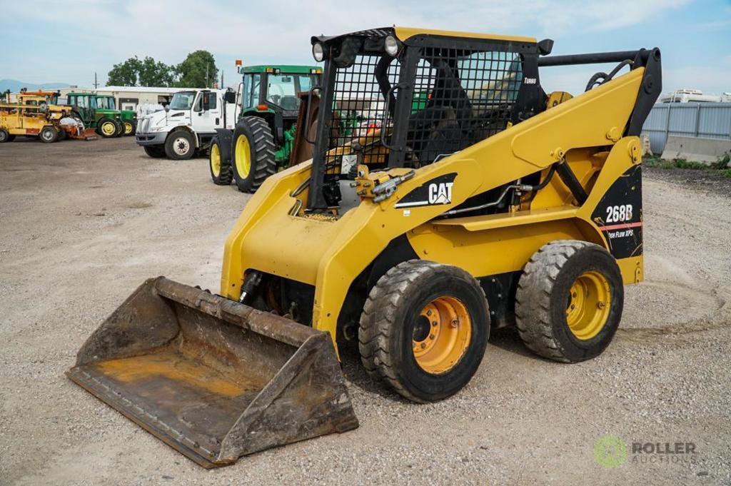 2006 Caterpillar 268B Skid Steer Loader, High Flow XPS, 72in Bucket, 12-16.5 Tires, Hour Meter