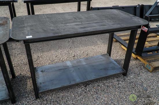 New Heavy Duty 30in x 57in Welding Shop Table w/ Shelf