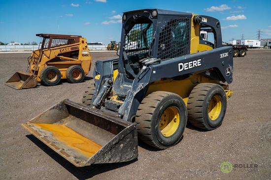2013 John Deere 332E Skid Steer Loader, 2-Speed, Auxiliary Hydraulics, High Flow, 14-17.5 Tires,