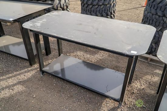 New Heavy Duty 30in x 57in Welding Shop Table w/ Shelf