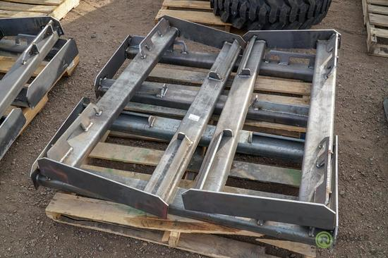 (4) New KT Skid Steer Frame Attachments