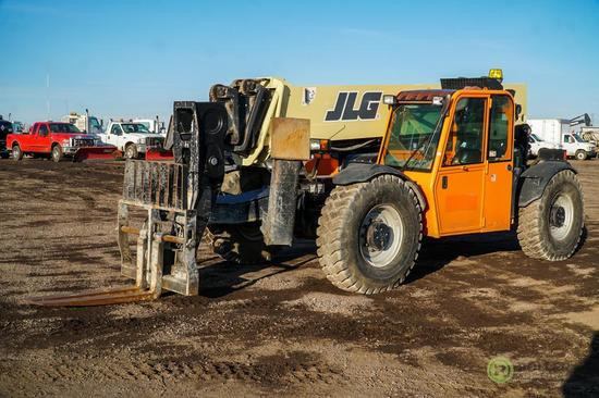 2014 JLG G10-55A Telescopic Forklift, 4x4x4, 10,000 LB Capacity, 55' Reach, 4-Stage Boom, Enclosed