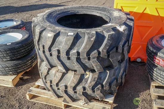 (2) New 17.5L-24 Backhoe Tires