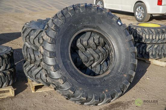 (4) New 14.00-24 Loader/Grader/Telehandler Tires, G2-16 Ply
