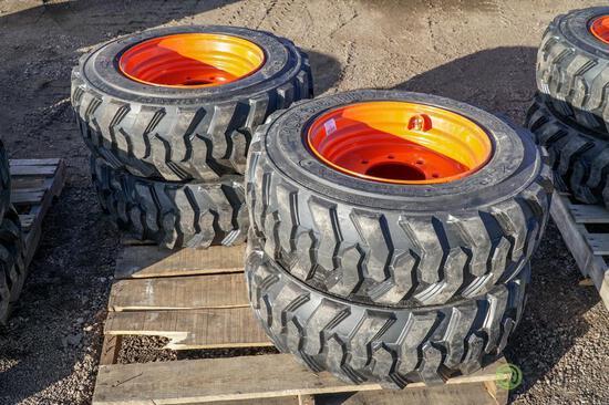 (4) New Loadmax 10-16.5 Skid Steer Tires w/ Wheels