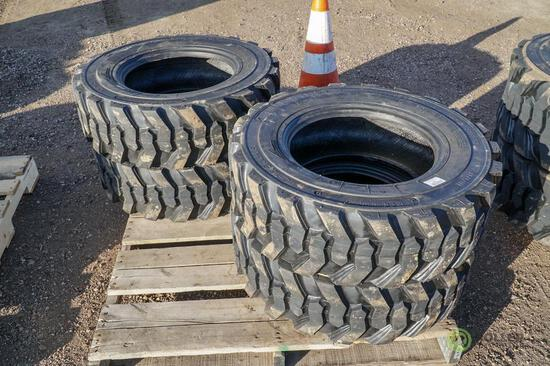 (4) New Turbo 10-16.5 Skid Steer Tires