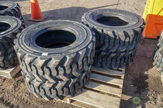 (4) New Turbo 12-16.5 Skid Steer Tires