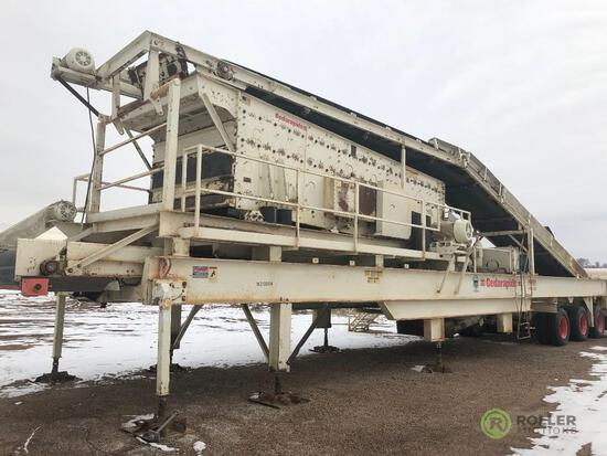 2002 CEDAR RAPIDS CSC45II620 Rock Crushing Plant, Closed Circuit, 45in Cone, 6' x 20' 3-Deck Screen,