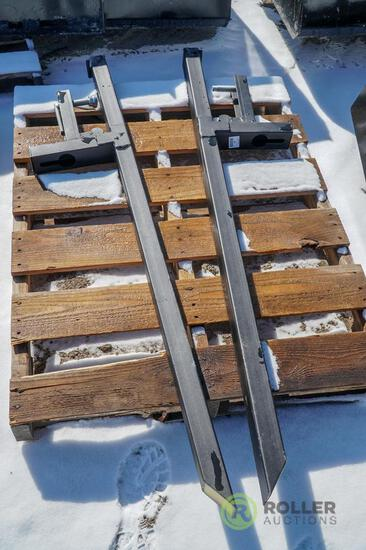 Pair of Clamp-On Pallet Forks for Tractor/Skid Steer