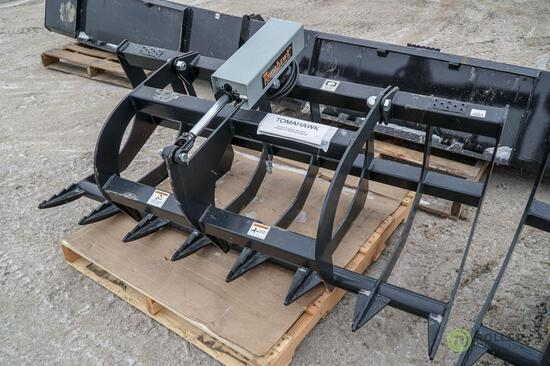 New Tomahawk 66in Root Grapple Bucket To Fit Skid Steer Loader