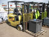 1994 Hyster E60XL-33 6000 lbs Capacity Electric Forklift w/ Charger, 8545 Hours