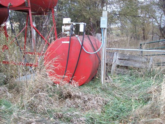 500 Gallon Fuel Barrel With Elec Gas Boy Pump
